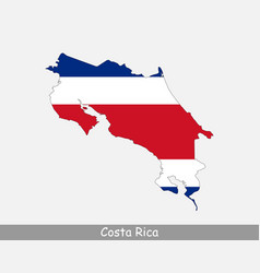 costa rica map flag vector image