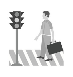 Crossing road vector