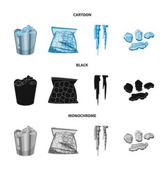 design of texture and frozen symbol set of vector image