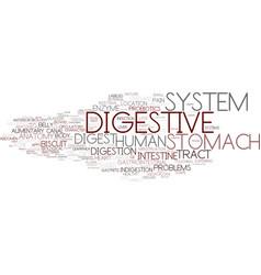 Digest word cloud concept vector