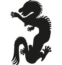 dragon fantastic silhouette symbol fantasy vector image