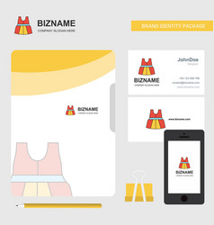 dress business logo file cover visiting card and vector image