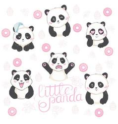 Emoji panda vector