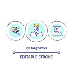 Eye diagnostics concept icon vector