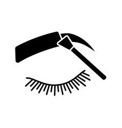 Eyebrows tinting glyph icon vector