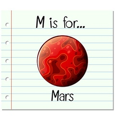 Flashcard letter M is for mars vector