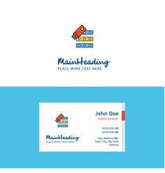 flat files copy logo and visiting card template vector image