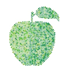 Green apple isolated vector