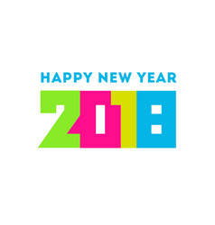 happy new year 2018 greeting card design vector image