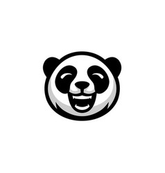 head panda logo design vector image