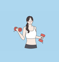 healthy active lifestyle and sport concept vector image