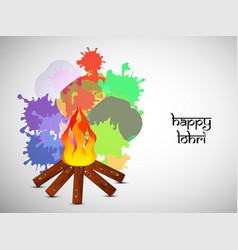 hindu festival lohri background vector image
