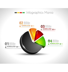 infographic design template 3d pie vector image