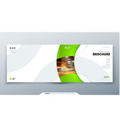 Landscape brochure design green corporate vector