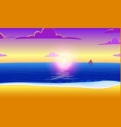 Landscape paradise on ocean beach vector