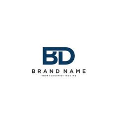 Letter bd logo design vector