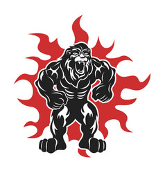 Lion athlete logo vector
