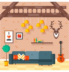 Loft Living Room 2 vector image