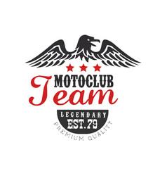 Motoclub team logo legendary est 1979 premium vector