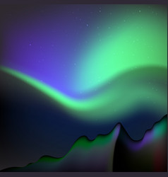 northern lights polar lights vector image