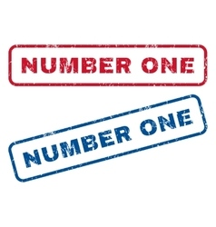 Number One Rubber Stamps vector