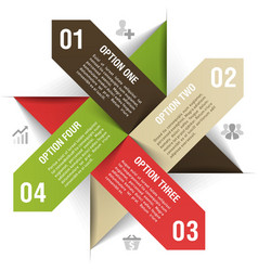 Options infographics template vector image
