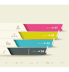 Options progress banners with tags vector