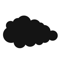 Overcast icon simple style vector