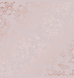 pattern with berries with imitation of rose gold vector image