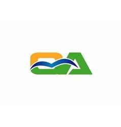 qa logo letter vector image vector image