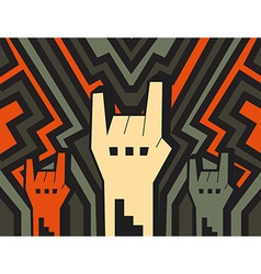 rock hands vector image