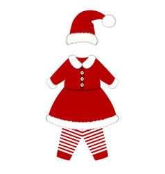 romper suit christmas costume for children vector image