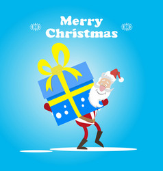 santa and big-big box vector image
