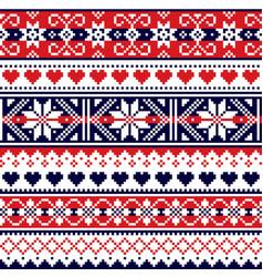 scottish fair isle traditional knitwear pattern vector image