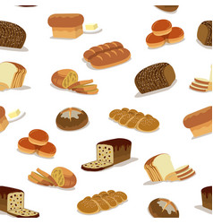 seamless bread pattern vector image