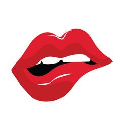 sensual red lips vector image