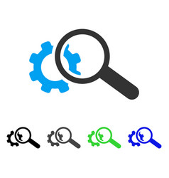 Seo tools flat icon vector