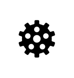 settings clockwork flat icon vector image