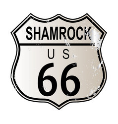 Shamrock route 66 vector