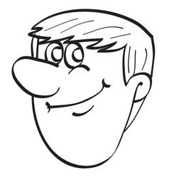 sketch a male portrait cartoon coloring book vector image