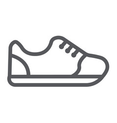 sneakers line icon footwear and fashion sport vector image