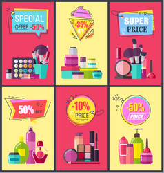 special offer for cosmetics and skincare means vector image