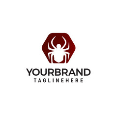 spider logo design concept template vector image