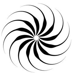 spiral shape on white curved lines rotating from vector image