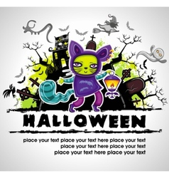 spooky halloween composition 2 vector image