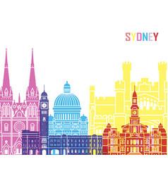Sydney v3 skyline pop vector
