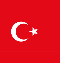 Turkish flag background republic of turkey vector