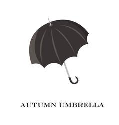 Umbrella closeup black icon isolated on vector