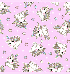unicorn seamless pattern magic background with vector image