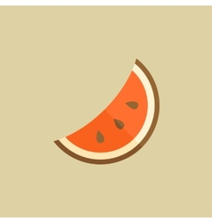 Watermelon Food Flat Icon vector